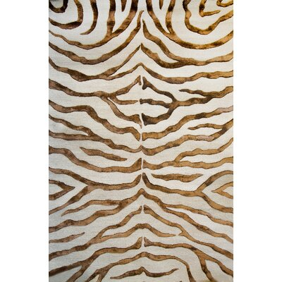 Earth Safari Zebra Print with Faux Silk Highlights Area Rug by nuLOOM