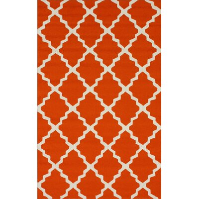 Homestead Orange Lannah Trellis Geometric Area Rug by nuLOOM