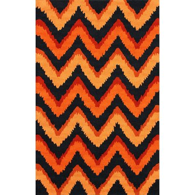 Fergie Orange Chic Chevron Rug by nuLOOM