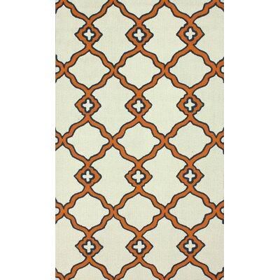 Trellis Orange Naara Area Rug by nuLOOM