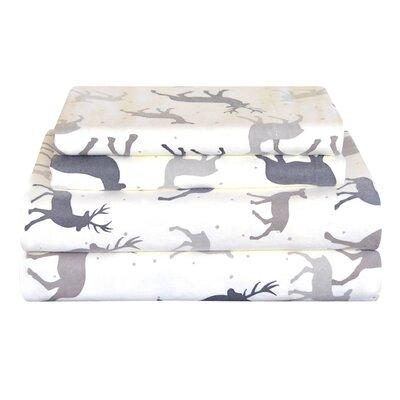 Autumn Deer Cotton Sheet Set by Pointehaven