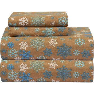 Heavy Weight Printed Flannel Sheet Set by Pointehaven