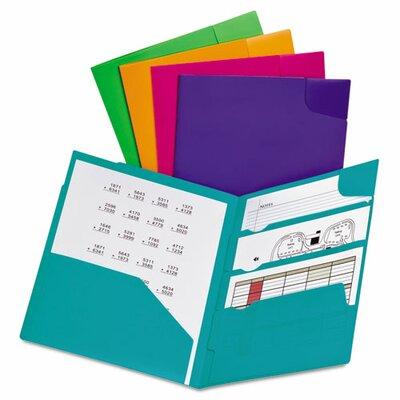 Oxford® Divide It Up Four-Pocket Poly Folder
