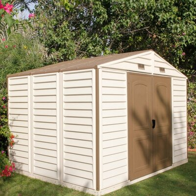 Duramax Building Products Woodside 10 1/2 ft. W x 8ft. D Vinyl Storage Shed