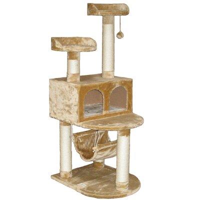 """Go Pet Club 54"""" Faux Fur Cat Tree"""