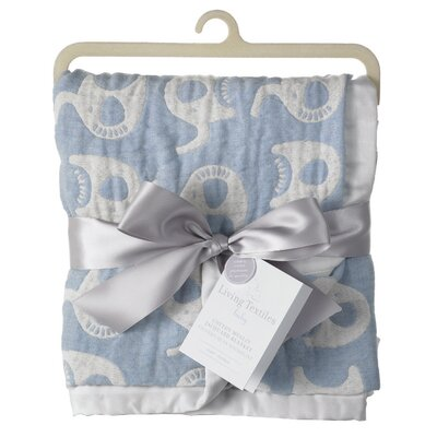 Muslin Jacquard Elephant Blanket by LivingTextilesBaby