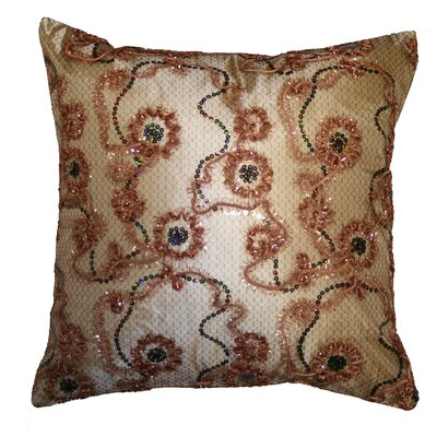 Crown Embroidered Sequins Decorative Throw Pillow by Violet Linen