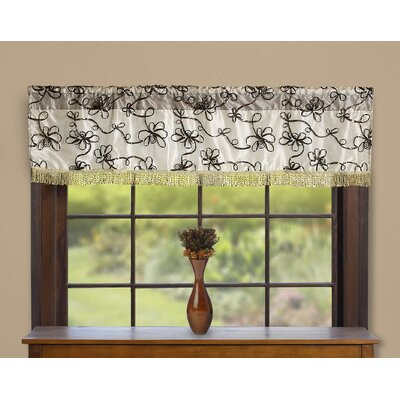 "Venetian Vintage Embroidered Floral Design 60"" Window Valance Product Photo"