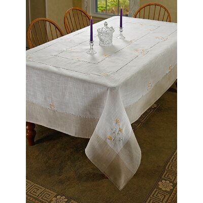 Espirit Embroidered Floral Tablecloth by Violet Linen