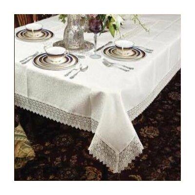 Violet Linen Treasure Lace Linen Look Tablecloth