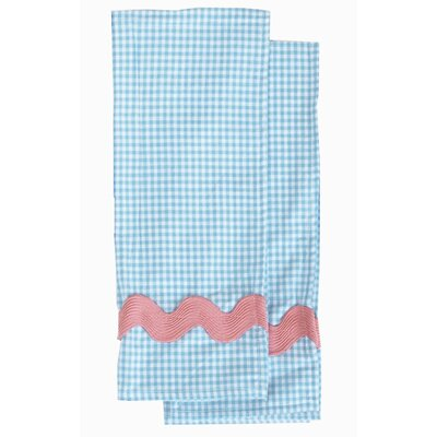 Violet Linen Yarn-Dye Blue and White Gingham Waffle Set
