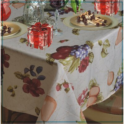 European Paradise Fruits Vintage Design Printed Tablecloth by Violet Linen