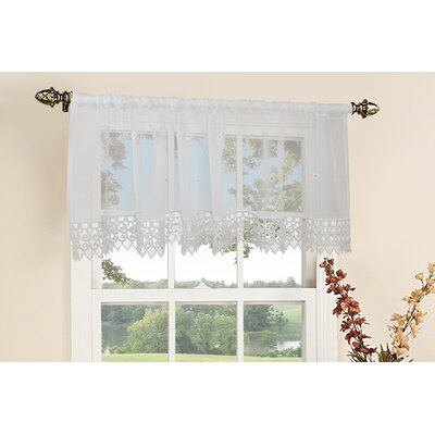 "Daisy Design Rod Pocket Ruffled 60"" Curtain Valance Product Photo"