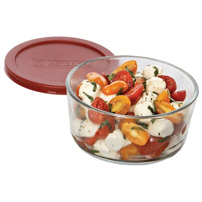 Anchor Hocking 7 Cup Round Kitchen Storage Container with Lid