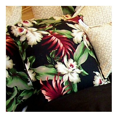 Orchids Cotton Throw Pillow by Hanalei