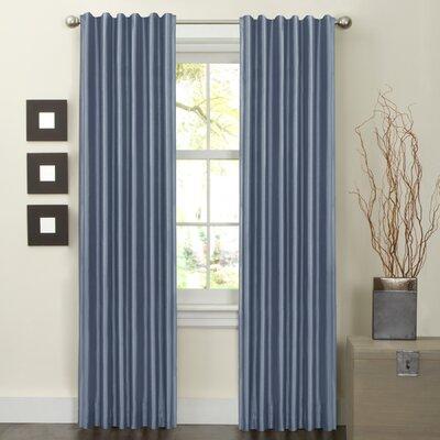 Maytex Faux Silk Rod Pocket Curtain Panels