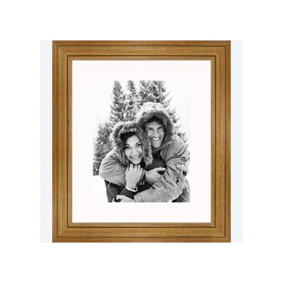 """Frames By Mail 8"""" x 10"""" Traditional Frame in Pecan"""