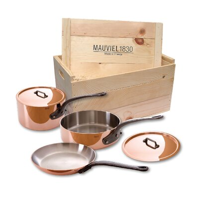 M'Heritage Copperl 5-Piece Cookware Set with Crate by Mauviel