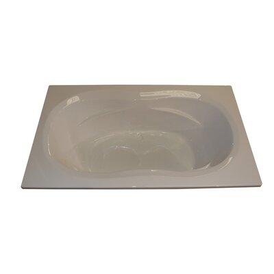 """American Acrylic 72"""" x 42"""" Soaker Arm-Rest Bathtub"""
