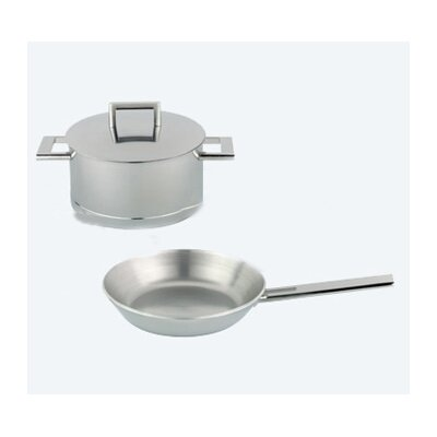 John Pawson 7-Ply Stainless Steel 3-Piece Cookware Set by Demeyere