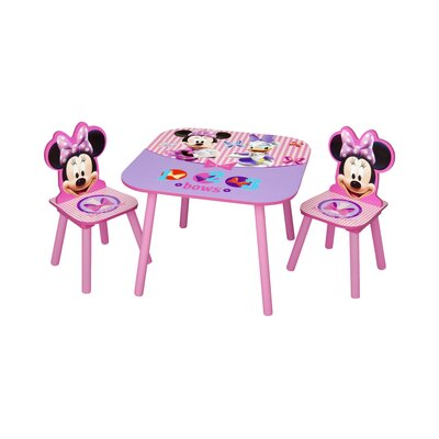 Delta Children Minnie Mouse Kids 3 Piece Table and Chair Set