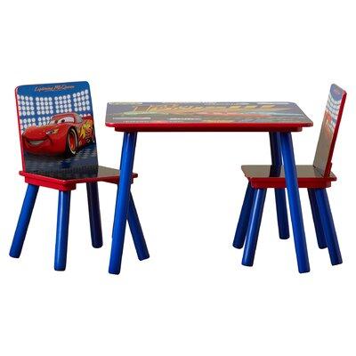 Delta Children Disney Pixar's Cars Kids' 3 Piece Table & Chair Set