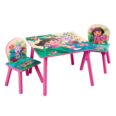 Delta Children Nickelodeon Dora the Explorer 10th Anniversary Kids' 3 Piece Table & Chair Set