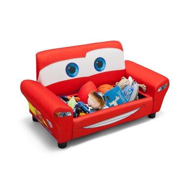 delta children disney pixar cars upholstered sofa with storage