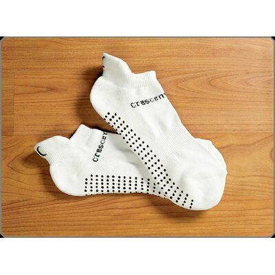 Crescent Moon ExerSock Small Yoga and Pilates Socks for Women in White (3-Pack)