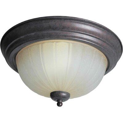 """Forte Lighting 11.25"""" 2 Light Flush Mount"""