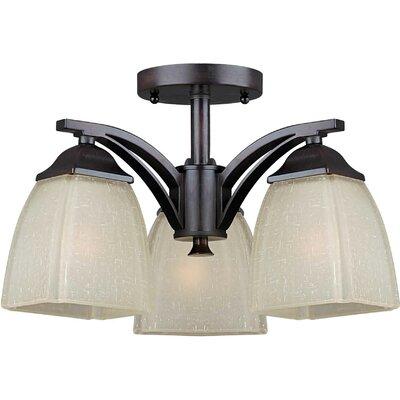 3 Light Semi Flush Mount Product Photo