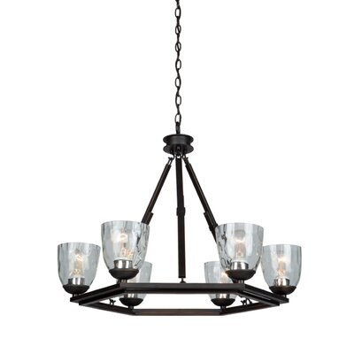 Kent 6 Light Candle-Style Chandelier by Artcraft Lighting