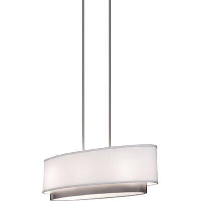 Scandia Three Light Oval Chandelier in Brushed Nickel by Artcraft Lighting