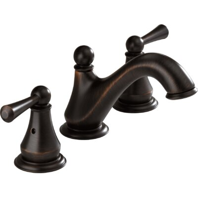 Lewiston Widespread Bathroom Faucet with Double Lever Handles Product Photo