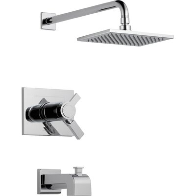 Vero Diverter Tub and Shower Faucet Trim with Lever Handles Product Photo