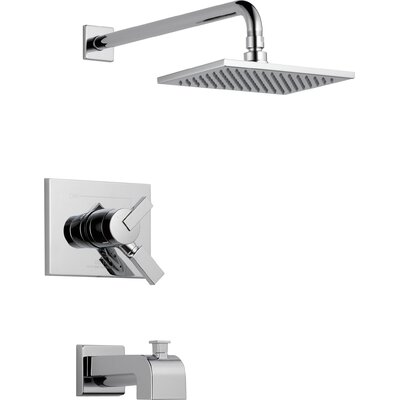 Vero Volume Control Tub and Shower Faucet Trim with Lever Handles Product Photo