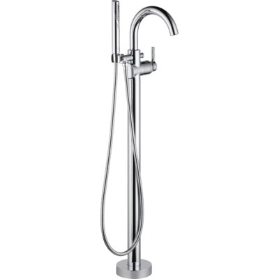 Trinsic Single Handle Floor Mount Tub Filler with Hand Shower Product Photo