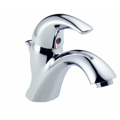 C Spout Series Single Hole Bathroom Faucet with Single Handle Product Photo