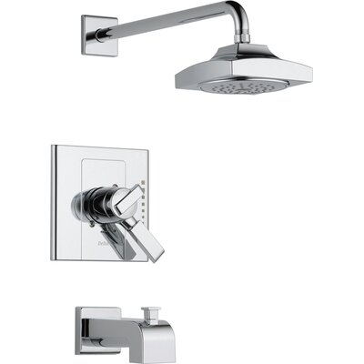 Arzo Diverter Tub and Shower Faucet Trim with Lever Handles Product Photo