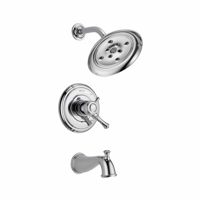 Cassidy Volume Control Tub and Shower Faucet Trim with Lever Handles Product Photo