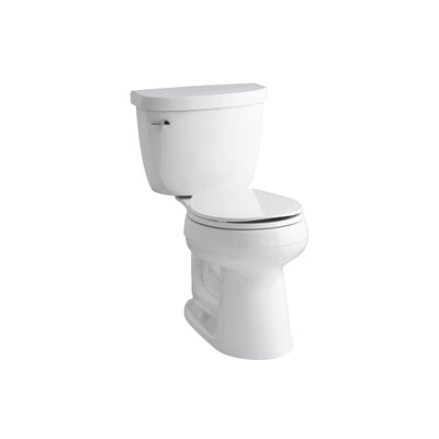 Cimarron Comfort Height 2 Piece Round-Front 1.28 GPF Toilet with Aquapiston Flush Technology, Left-Hand Trip Lever an... Product Photo