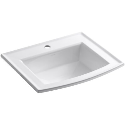 Archer Drop-In Bathroom Sink with Single Faucet Hole Product Photo
