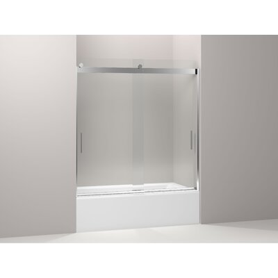 "Levity 62"" x 59.63"" Sliding  Bath Door with Blade Handles Product Photo"