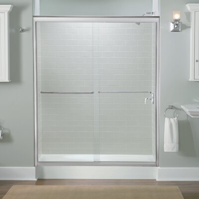 "Fluence 70.31"" x 59.63"" Sliding Shower Door Product Photo"