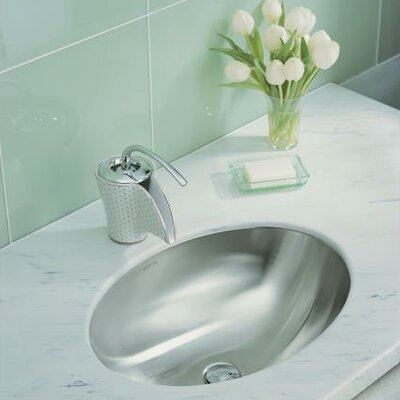 Rhythm Oval Undermount Bathroom Sink with Mirror Finish by Kohler