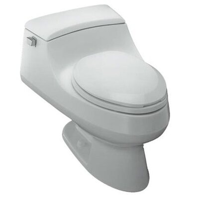 San Raphael One-Piece Elongated 1.6 GPF Toilet with French Curve Quiet-Close Toilet Seat by ...