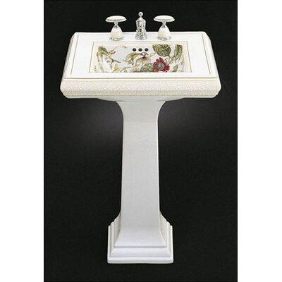 Kohler Crimson Topaz Design on Memoirs Pedestal Lavatory with Classic Design and White Pedestal