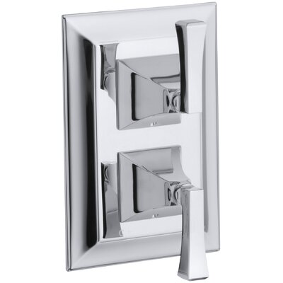 Kohler Memoirs Stately Valve Trim with Deco Lever Handles for Stacked Valve, Requires Valve