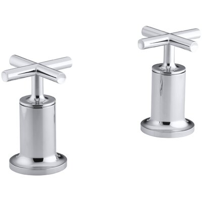 Kohler Purist Deck- or Wall-Mount High-Flow Bath Valve Trim with Cross Handle, Valve Not Included