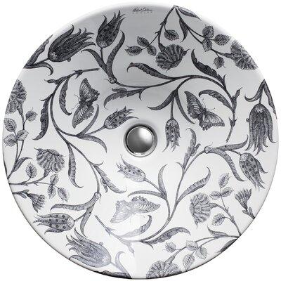 Kohler Botanical Study Design On Conical Bell Vessel Bathroom Sink